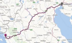 Ankunft in Thessaloniki: 13.5./Ortszeit 18:30